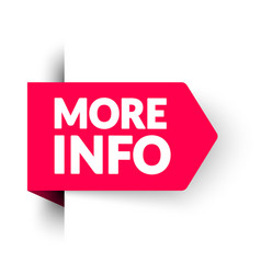 more info sticker modern web banner element vector image