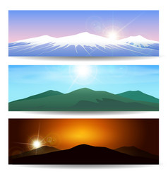 mountain landscape banner set vector image