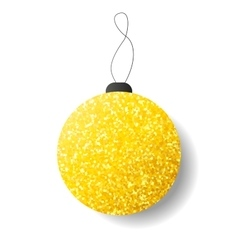 New Year ball icon with golden glitter vector