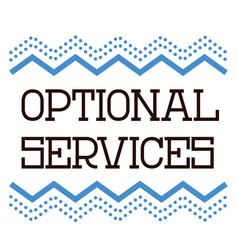 Optional services stamp on white background vector