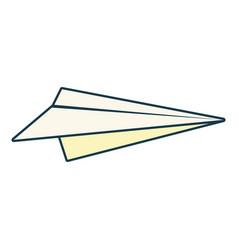 paper plane creativity icon vector image
