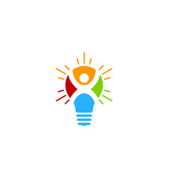 people idea logo icon design vector image