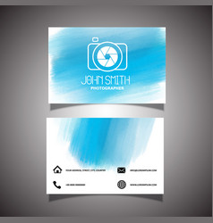 Photographer business card vector