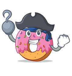 Pirate donut character cartoon style vector