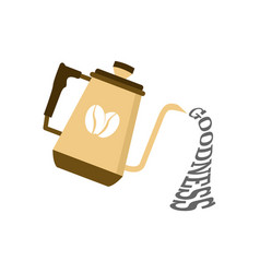 Pouring goodness coffee design vector