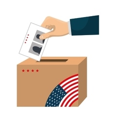 presidentials elections vote icon vector image