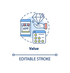 Product value concept icon vector