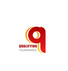 qualifying tournament letter q icon vector image
