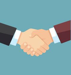 Robust handshake of businessmen business team vector