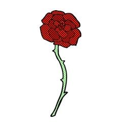 Rose tattoo comic cartoon vector