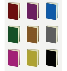 Set of colorful books vector image