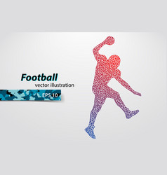 silhouette of a football player from triangle vector image