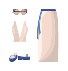 skirt and top summer mode vector image