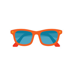 sunglasses - colored icon on white background vector image