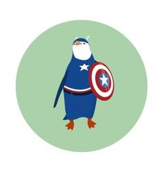Super hero penguin vector