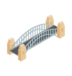 Sydney Harbour Bridge icon isometric 3d style vector image