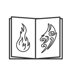 Tattoo images catalog linear icon vector