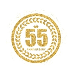 Template Logo 55 Years Anniversary vector image