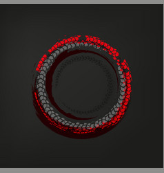 tire track frame vector image