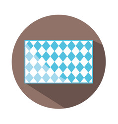 traditional blue checkered pattern shape block and vector image