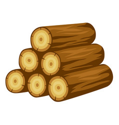 Tree logs stack adversting image vector