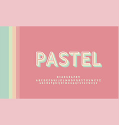 typography retro classic stylish pastel color vector image