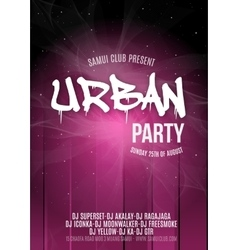 Urban Dance Party Poster Background Template vector image
