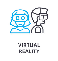 virtual reality thin line icon sign symbol vector image