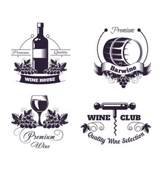 wine club house logo templates or winemaking bar vector image
