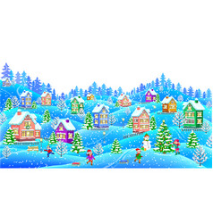 winter landscape horizontal vector image