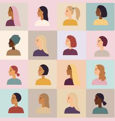 Women different nationalities poster vector