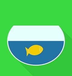 Aquarium with Gold Fish Flat Design Icon vector image vector image