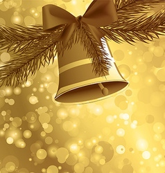 Christmas card background golden vector image vector image