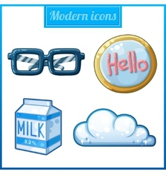 Modern icons set vector image vector image