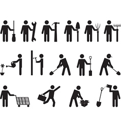 People pictogram activities vector image