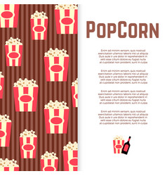 popcorn and sauce banner design vector image