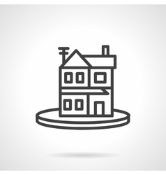 Rent of property simple line icon Housing vector image