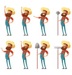 set of farmer icons3 vector image vector image