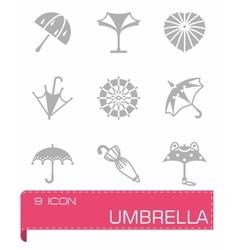 Umbrella icon set vector image