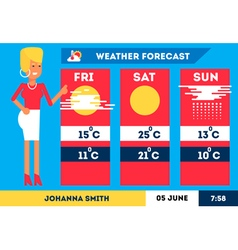 Weather Forecast 1 vector image