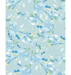 Abstract background Watercolor Blue Branch vector image