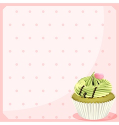 An empty stationery with a mocha cupcake vector image vector image