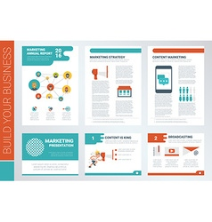 content marketing report book cover and vector image vector image