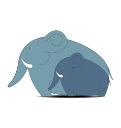 elephant with small elephant vector image vector image