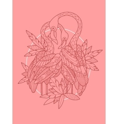 Flamingo bird tattoo design vector image vector image