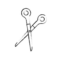 school scissors isolated vector image vector image