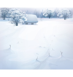 Winter snow house vector