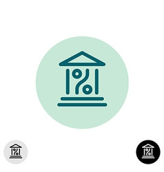 Bank percent icon vector image vector image