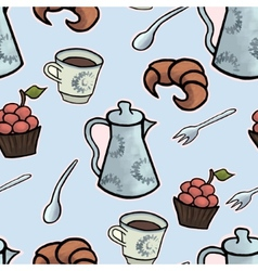 English tea ceremony seamless pattern vector image vector image