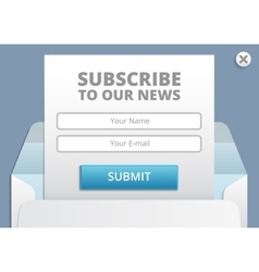 Subscribe to newsletter web and app form vector image vector image